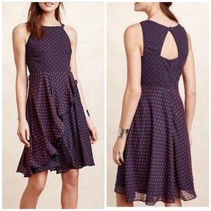 Anthro Eva Franco ruffled clip dot dress